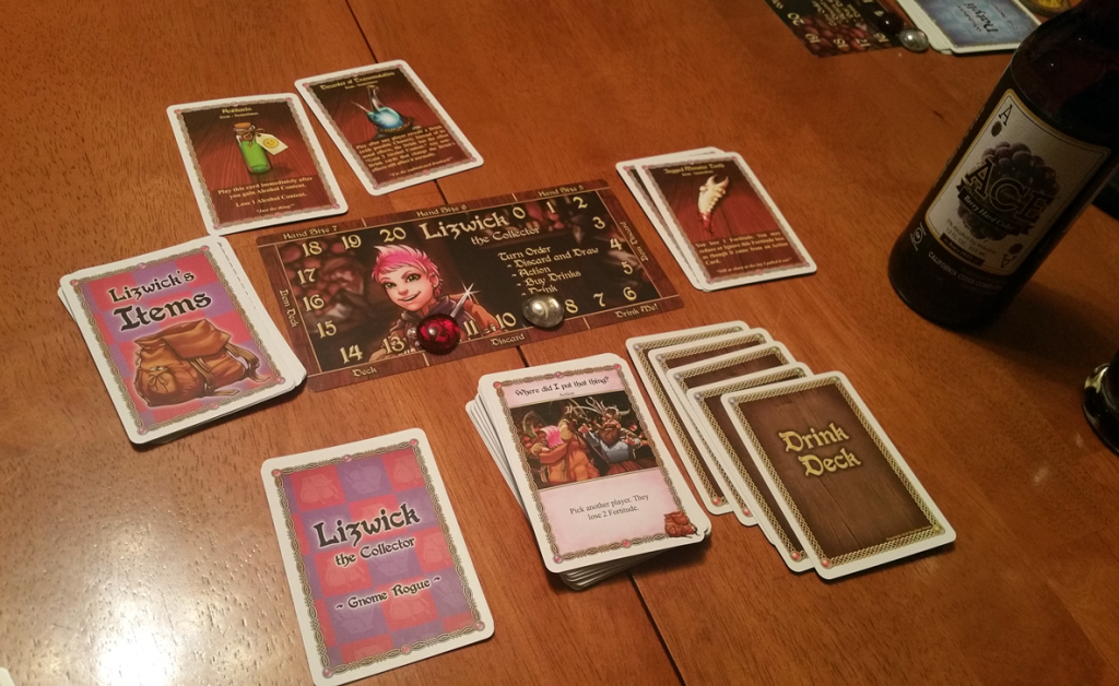 Lizwick's Item deck was more hindrance than help during this game