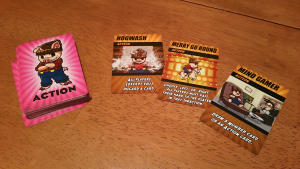 Action cards let you influence (or downright screw over) player's chances